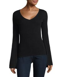 French Connection - Virgie Ribbed V-neck Jumper - Lyst