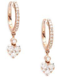 Le Vian - 14k Strawberry Gold Heart Dangle Earrings - Lyst