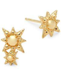 Anzie - 14k Gold Aztec Stud Earrings - Lyst