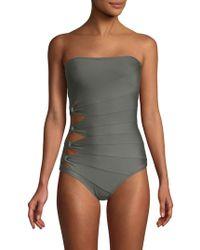 Carmen Marc Valvo - One-piece Bandeau Swimsuit - Lyst