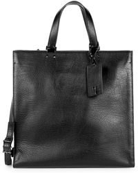 Valentino - Leather Large Tote - Lyst