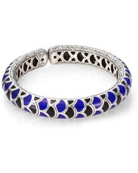 John Hardy - Naga Enamel & Sterling Silver Slim Flex Cuff Bracelet - Lyst