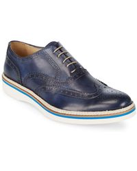 Bugatchi - Brogued Leather Oxfords - Lyst