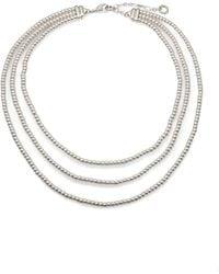 John Hardy Bedeg Mini Silver Beaded Necklace ekWu9