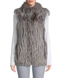 Belle Fare - Vertical Full Skin Cross Fox Fur Vest - Lyst