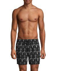 Brioni - Rose-print Swim Shorts - Lyst