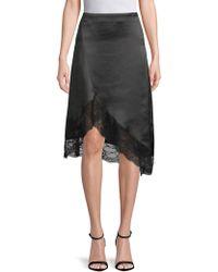 Lea & Viola - Asymmetrical Lace Skirt - Lyst