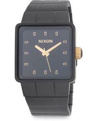 Nixon - Quatro Sterling Silver Bracelet Watch - Lyst