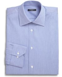 Saks Fifth Avenue - Micro Stripe Dress Shirt - Lyst
