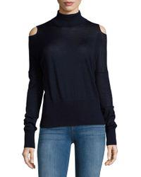 Vince - Solid Cold-shoulder Sweater - Lyst