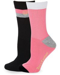 Juicy Couture - Two-pack Classic Crew Socks - Lyst