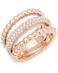 Swarovski - Clear Crystal Midi Ring - Lyst