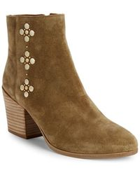 Frye - Studded Suede Booties - Lyst