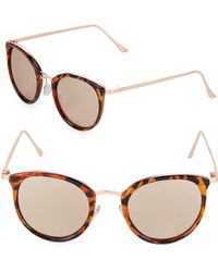 Fantaseyes - Mirrored 48mm Oval Sunglasses - Lyst