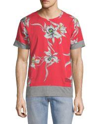 Valentino - Floral-print Short-sleeve Tee - Lyst