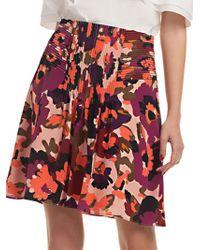 Trina Turk - Floral Diamond Silk A-line Skirt - Lyst