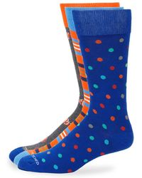 Unsimply Stitched - Three-pack Multicolored Socks - Lyst