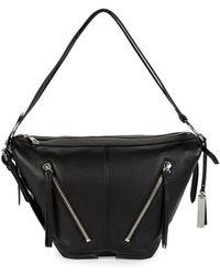 Vince Camuto - Textured Leather Shoulder Bag - Lyst