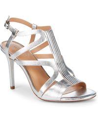 Halston - Strappy Stiletto Sandals - Lyst