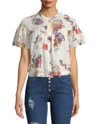 Free People - Sweet Escape Cotton Button-down Shirt - Lyst