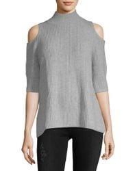 Zoe Jordan - Turtleneck Cold-shoulder Sweater - Lyst