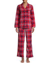 Carole Hochman - 2-piece Plaid Pajama Set - Lyst