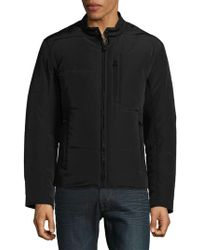 Andrew Marc - Quilted Moto Jacket - Lyst