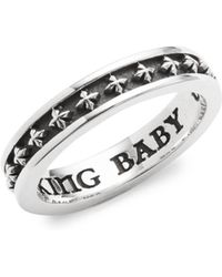 King Baby Studio - Stackable Sterling Silver Ring - Lyst