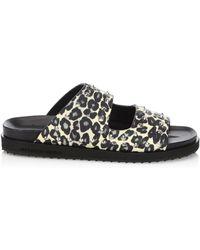 Alexander McQueen - Berkinstock Studded Leopard Sandals - Lyst