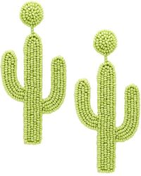 Lyst Kate Spade Scenic Route 12k Plated Cactus Statement Earrings