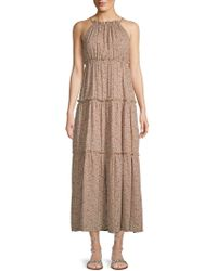 Nanette Lepore - Printed Tiered Maxi Dress - Lyst