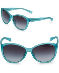 Armani - 59mm Rounded Sunglasses - Lyst