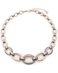 Swarovski - Two-tone Sterling Silver Crystal Necklace - Lyst