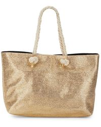 Saks Fifth Avenue - Angled Shape Tote Bag - Lyst