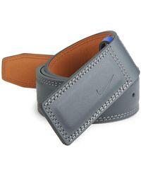 Nike - Sleek Modern Plaque Leather Belt - Lyst