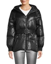 7 For All Mankind - Hooded & Belted Down Puffer - Lyst