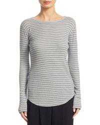Vince - Pinstripe Shirttail Cotton Sweater - Lyst
