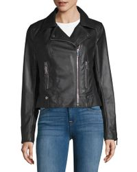 French Connection - Textured Zippered Jacket - Lyst