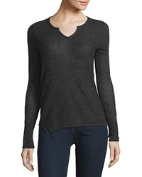 INHABIT - Serafino Long Sleeves Cashmere Tee - Lyst