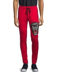 Robin's Jean - Graphic Embroidery Side Zip Jogging Trousers - Lyst