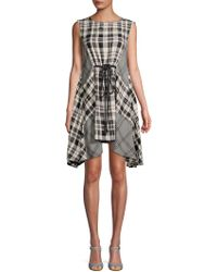 Free People - Land Lines Checker Drape Dress - Lyst