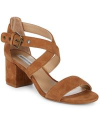 Saks Fifth Avenue - Strappy Block Heel Sandals - Lyst