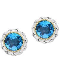Effy - Sterling Silver Blue Topaz Earrings - Lyst