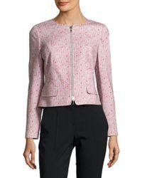 Basler - Printed Cotton Zipper Jacket - Lyst