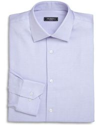 Saks Fifth Avenue - Trim-fit Micro Houndstooth Dress Shirt - Lyst