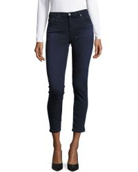AG Jeans - Buttoned Super Skinny Jeans - Lyst