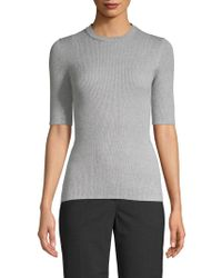 INHABIT - Ribbed Cotton Top - Lyst