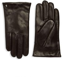 Roberto Cavalli - Wool Lined Leather Gloves - Lyst