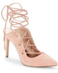 BCBGeneration - Hayes Suede Lace-up Court Shoes - Lyst