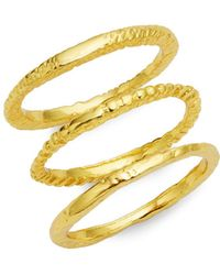Gorjana - 3-piece Stackable Ring Set - Lyst
